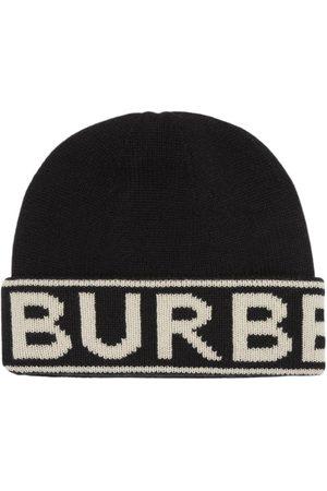 Burberry Cashmere logo intarsia beanie