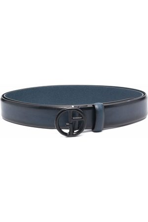 Armani Logo-plaque leather belt
