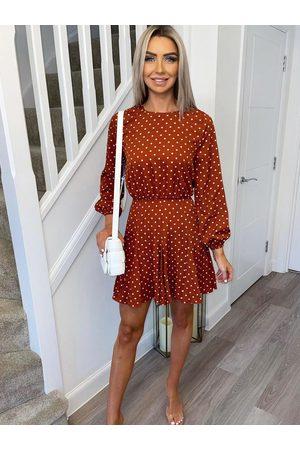 Ax Paris Rust Spot Mini Dress