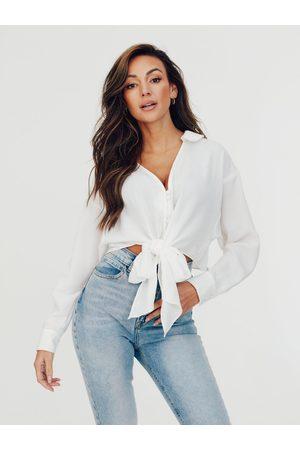 Michelle Keegan Tie Button Through Blouse