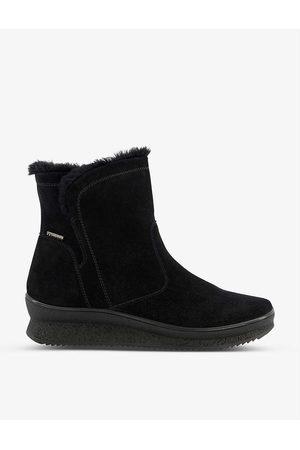 Dune Women Heeled Boots - Peeky waterproof platform suede boots