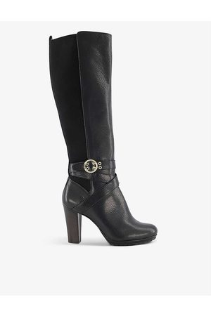 Dune Women High Leg Boots - Sabrena heeled knee-high leather boots