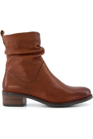 Dune Pagers2 Leather Rouched Calf Boot
