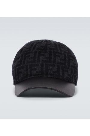 Fendi Men Hats - FF wool baseball cap