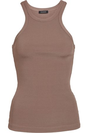 Goldsign Women Tank Tops - The Laurel ribbed-knit tank top