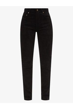 Saint Laurent Slim-leg Suede Jeans - Womens