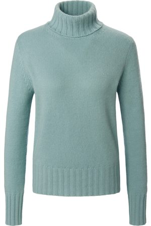 Peter Hahn Women Jumpers - Roll-neck jumper in 100% cashmere Bernadette turquoise size: 10