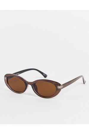 Jeepers Peepers Womens oval sunglasses in brown