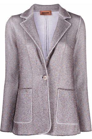Missoni Women Blazers - Metallic threading knitted blazer