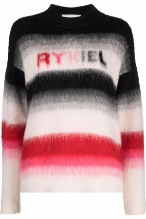 SONIA RYKIEL Logo-print striped knitted jumper