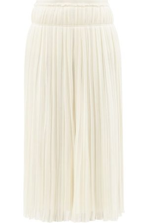 Chloé Women Midi Skirts - High-rise Pleated Wool Midi Skirt - Womens