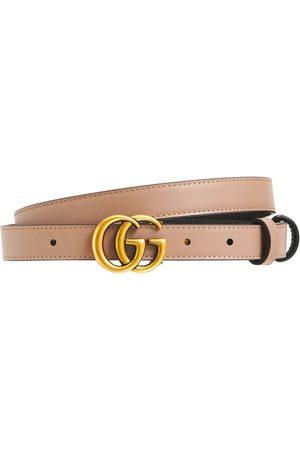 Gucci 2cm Gg Marmont Reversible Thin Belt