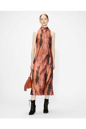 Ted Baker Women Midi Dresses - High Neck Printed Sleeveless Midi Dress