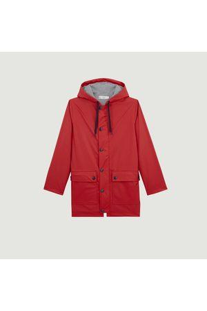 Petit Bateau Women Rain Jackets - Iconic hooded raincoat Rouge terkuit