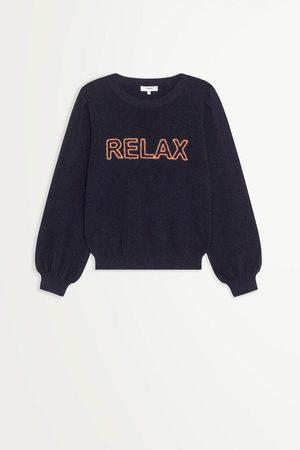 Suncoo Peacy Navy Knitted Sweater