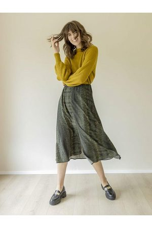 B YOUNG B Young ByFione Midi Skirt Beetle