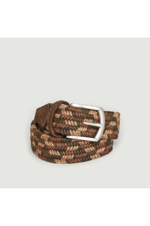 Anderson's Elasticated woven wool belt Natural