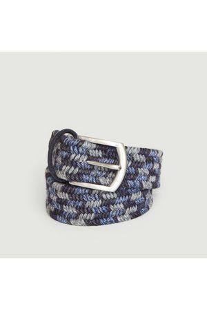 Anderson's Elasticated woven wool belt Petrol