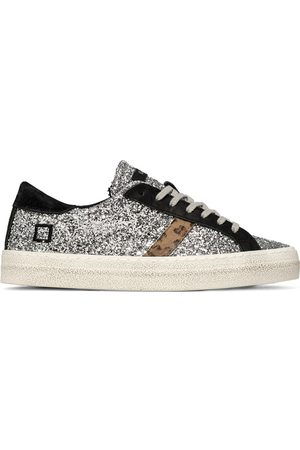 D.A.T.E. D.A.T.E Hill Low Glitter Trainers Black and
