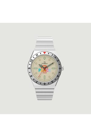 Timex Q-timex x Coca-Cola Unity Collection stainless steel bracelet watch argent