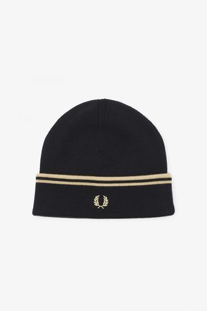 Fred Perry Fred Perry Twin Tipped Merino Beanie - Black/Champagne