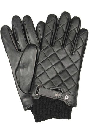 Barbour Gloves - Quilted Leather Ribbed Cuffs