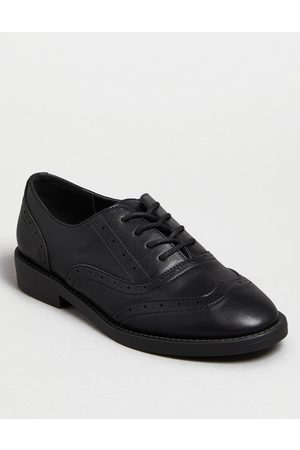 New Look Girls Leather-Look Brogues