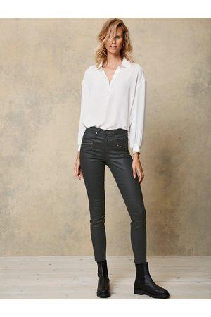 mint&berry Women Jeans - Denver Coated Biker Jeans