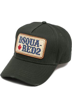 Dsquared2 Distressed logo-patch cap