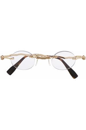 KUBORAUM Hammered-arm round glasses