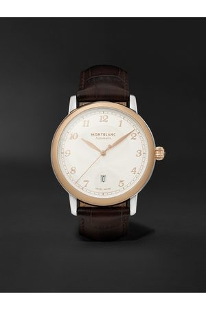 Montblanc Men Watches - Star Legacy Automatic 42mm 18-Karat Rose Gold, Stainless Steel and Alligator Watch, Ref. No. 128683