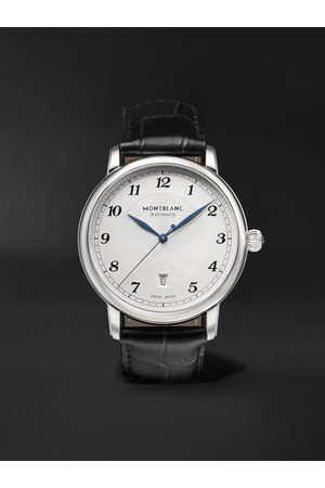 Montblanc Men Watches - Star Legacy Automatic 42mm Stainless Steel and Alligator Watch, Ref. No. 128681