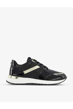 Dune Women Trainers - Effort contrast panelled leather trainers