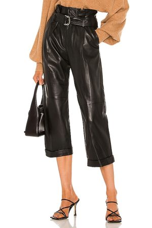 Marissa Webb Women Leather Trousers - Dixon Leather Cropped Pant in . Size 2, 4, 6, 8.