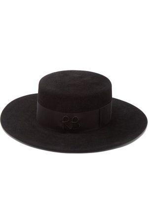 Ruslan Baginskiy Felt Boater Hat - Womens