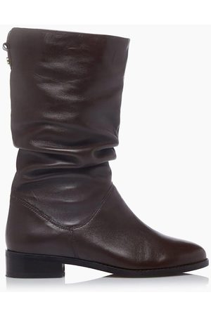Dune Women Boots - Rosalindas Leather Ruched Calf Boot