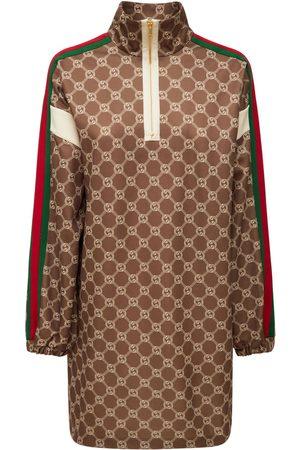 Gucci Women Casual Dresses - Printed Technical Jersey Mini Dress