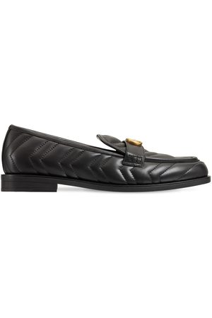Gucci Women Loafers - 15mm Marmont Matelassé Leather Loafers