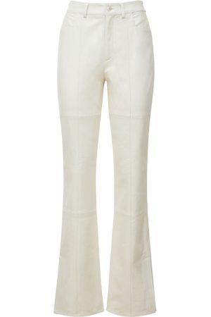 Wandler Women Leather Trousers - Astr High Waist Slim Leather Pants