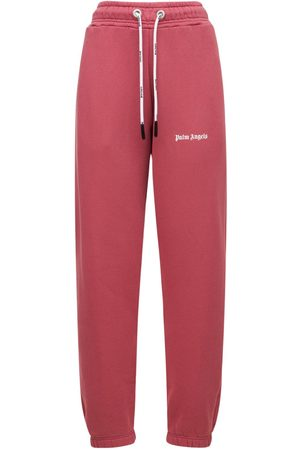 Palm Angels Classic Cotton Jersey Logo Sweatpants
