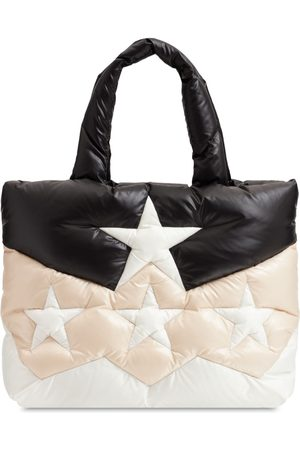 MIU MIU Star Quilted Nylon Puffer Tote Bag