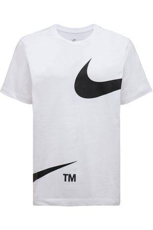 Nike Men T-shirts - Swoosh Logo Cotton T-shirt