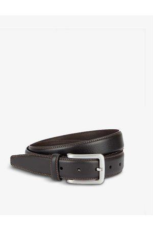 Dents Men Belts - Logo-engraved leather belt