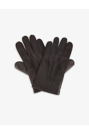 Dents Men Gloves - 3 Points leather and cashmere touchscreen gloves