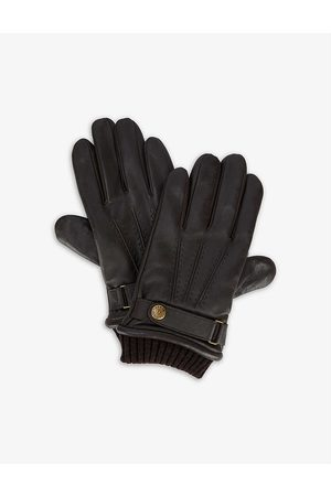 Dents Men Gloves - Touch leather and wool-blend touchscreen gloves