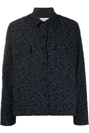 YMC Embroidered long-sleeve shirt