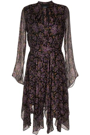 Polo Ralph Lauren Women Printed Dresses - Floral-print long-sleeve dress
