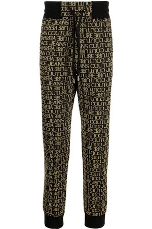 VERSACE Logo-embroidered cotton track pants