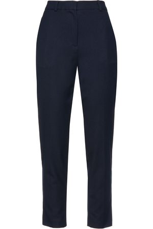 American Vintage Women Trousers - Woman Stretch-twill Tapered Pants Navy Size L