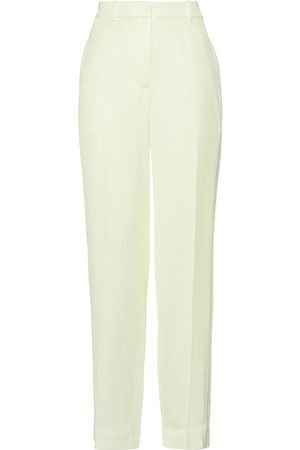 3.1 Phillip Lim Women Trousers - Woman Bleached Satin-twill Straight-leg Pants Chartreuse Size 0